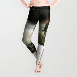 Enso Abstraction No. 107 by Kathy Morton Stanion Leggings