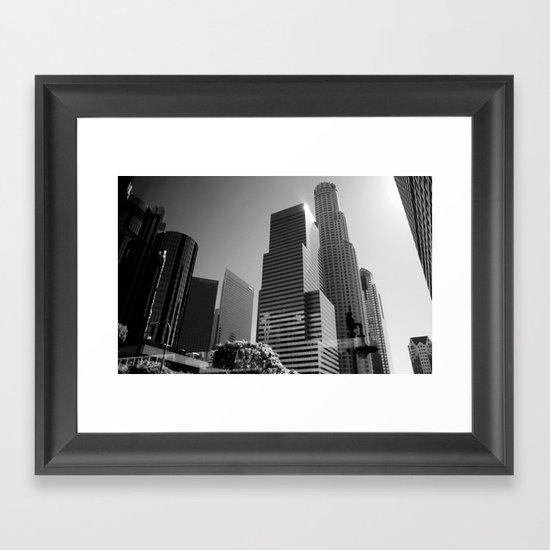 Los Angeles Skyscrapers Framed Art Print