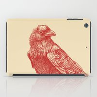 raven iPad Cases featuring Red Raven  by Terry Fan
