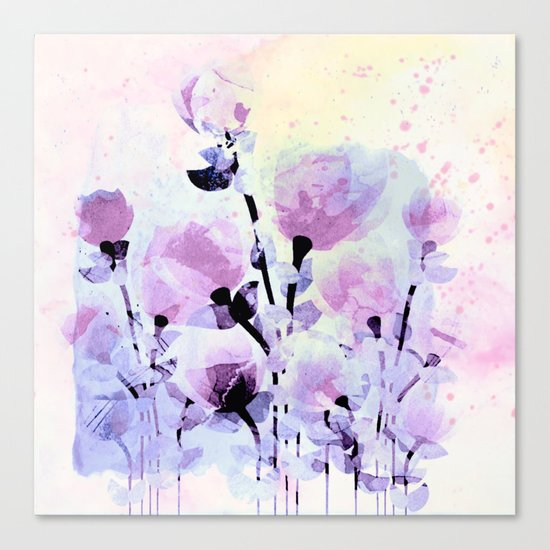 soft pink and purple bouquet Canvas Print