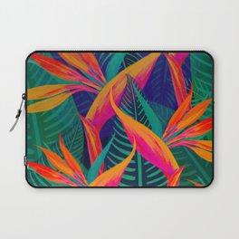 Tropical Bird of Paradise Flowers Laptop Sleeve