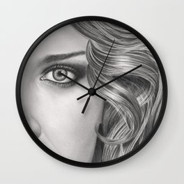 Half Portrait Wall Clock
