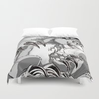 digimon Duvet Covers featuring + Digimon - Dorumon + by Xyeziaeos