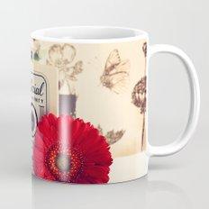 Retro Camera and Red Flower (Retro and Vintage Still Life Photography) Mug