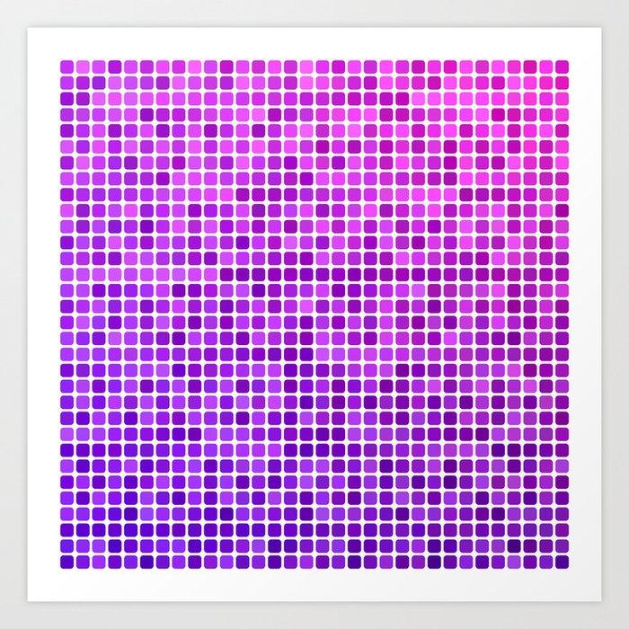 Pink purple mosaic Art Print