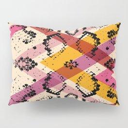 Snake skin texture. black magenta orange pink purple print Pillow Sham
