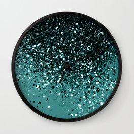 Teal Mermaid Ocean Glitter #3 #shiny #decor #art #society6 Wall Clock