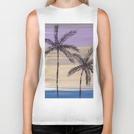 two palm trees euphoric sky Biker Tank