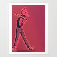 hotline miami Art Prints featuring Hotline Miami by Josh Fregoso
