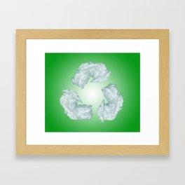 recycling eco symbol Framed Art Print