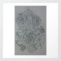 Flower filigree Art Print