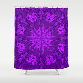 Peacock Double Kaleidoscope Purple Shower Curtain