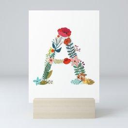 Monogram A. Letter. Initial. Typography Mini Art Print