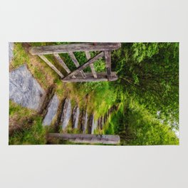 Path Into The Forest Rug