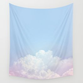 Dreamy Cotton Blue Sky Wall Tapestry