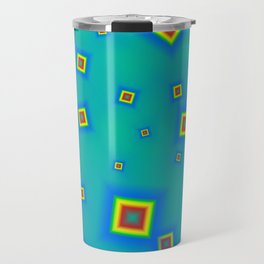 Pattern of disorganized multicolored paintings Travel Mug