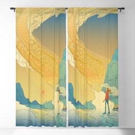 Golden Staircase Blackout Curtain