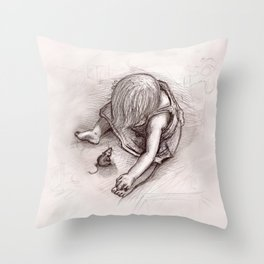 Ruby and the Rat Throw Pillow