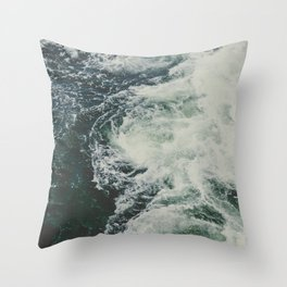 Summer Ocean Waves Throw Pillow