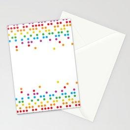 Rainbow Circles Stationery Cards
