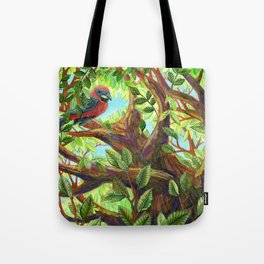 Bird up a Tree Tote Bag