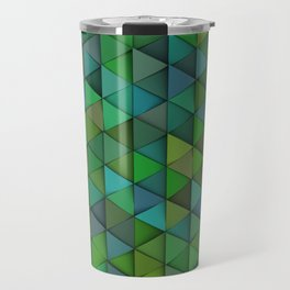 Pattern of green triangle prisms Travel Mug