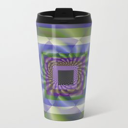 Blue Green Swirl Metal Travel Mug