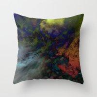 interstellar Throw Pillows featuring Interstellar  by AURA by MJ