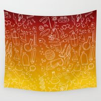science Wall Tapestries featuring Science yo! by minniemorrisart