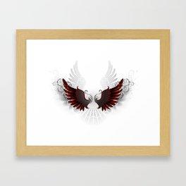 Black Wings Framed Art Print