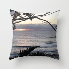 Peeping Through- Sunrise Caloundra Throw Pillow