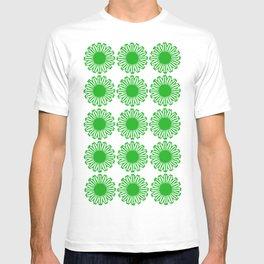 vintage flowers green T-shirt