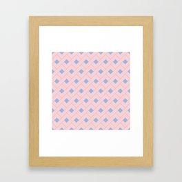 Rose Quartz and Serenity Geometric Framed Art Print