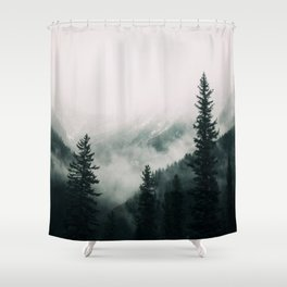 Over the Mountains and trough the Woods -  Forest Nature Photography Shower Curtain