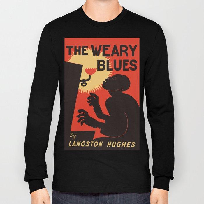 Retro The Weary Blues (music) Long Sleeve T-shirt