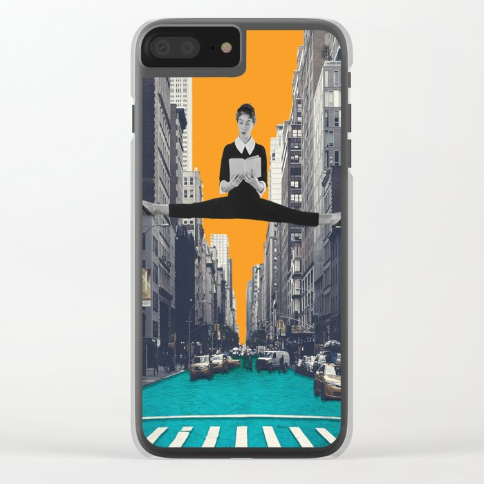 Uptown Girl Clear iPhone Case