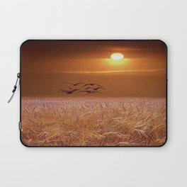 bird and yellow Laptop Sleeve