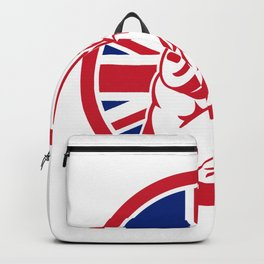 British Gym Circuit Union Jack Flag Icon Backpack