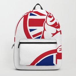 British Gym Circuit Union Jack Flag Icon Backpack