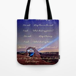 The Wound Is The Place Where The Light Enters You - Rumi Tote Bag