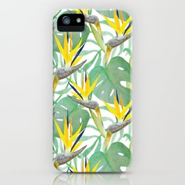 Tropical Birds Of Paradise iPhone Case