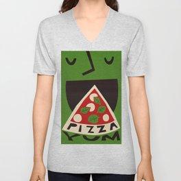 Yum Pizza Unisex V-Neck