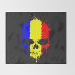 Romanian skull Throw Blanket