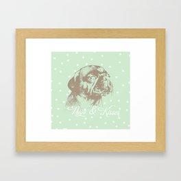 Pugs & Kisses Framed Art Print
