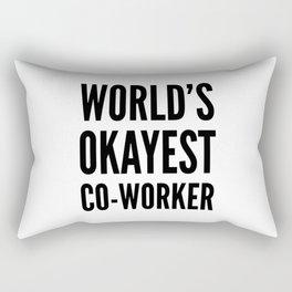 World's Okayest Co-worker Rectangular Pillow