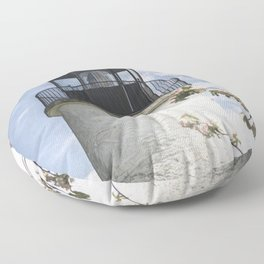 Blossoms and Lighthouse Floor Pillow