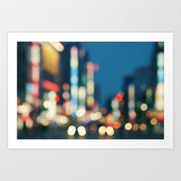 Blurred Traffic Art Print
