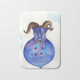 Big Horn Sheep In The Sky Bath Mat