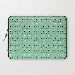 Studded Double Polka stud on Mediterranean Mint 1@50 Laptop Sleeve