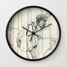 I Ride the Bus - Bag Man Wall Clock